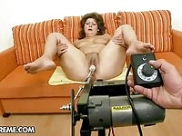 Watch this granny having some in here