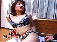 Sexy asian chick getting her boobs, pussy and ass felt