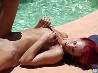 Slut fucking the pool guy