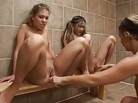 Two Girls Experimenting caught by Gym coach
