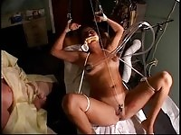 Tied up slut in bdsm