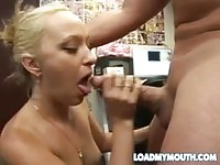 Teen Breanna Fox gives head for doggy