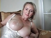 Fat tits riding hard cock