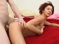A horny mature fucking
