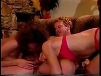 Classic porn threesome