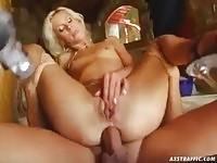Hungarian slut in anal