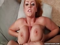 The busty  Sophie Dee in tit job