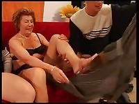 Granny gets a threesome