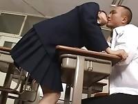 Asian school girl fucks classmate
