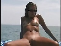 Emily Osment in boat cock riding