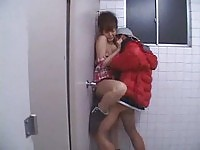 Young asian gets rammed in public toilet