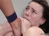 Sweet busty wrestler plowed by a hot lesbian