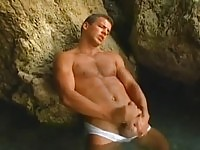 Jerking off in the cave