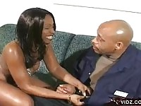 Ebony Babe Sucks Off The Black Man