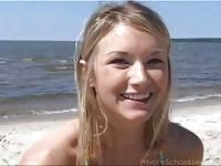 Lovely teen Jewel  on beach