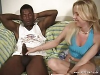 Blonde Taylor Lynn in interracial