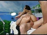 Busty Cynthia Lavigne in anal threesome