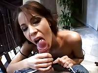 Awesome Trinity in blowjob action
