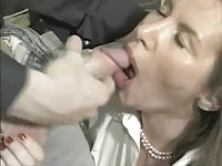 Blonde mature babe getting young cock