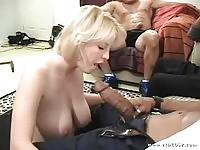 Busty milf Daisy in deep throat action