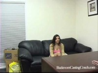 Brunette Angelina in porn casting movie