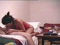 Amateur couple drilling on home made video