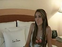 The sweet college teen girl Syra exposing all