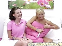 The sweet Summer and Kimmie in lesbian sex