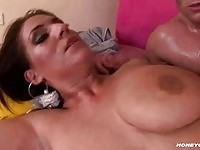 Busty Jenna titty fucks for pounding