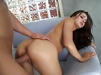 Beautiful girl fucks and squirts doggystyle