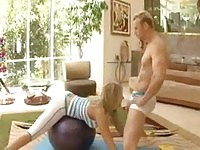Personal Trainer fucking blonde