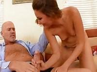 Young latina fucks old guy