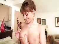 Pretty pornstar Carli banks masturbates