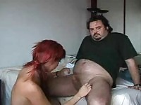 Red haired Spanish girl gets picked up to fuck