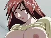 Busty redhead anime
