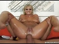Oiled Body Bree Olson Asshole Plunged