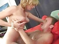 Small boobed blonde Lexi Belle rides out dick