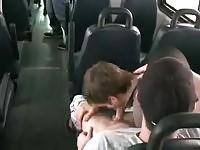 Public gay sex in the bus