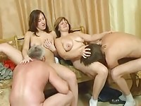 Russian family sex in the evening