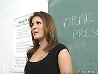 The art of blowjob being teached