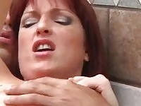 Anal action and hot tub