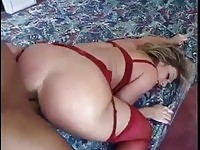 Delaney In Her Red Lingerie Pounded