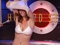 A amateur redhead naked on tv