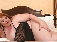 Fat ass redhead girl exposing