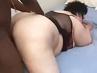 Sexy fat girl likes black cock