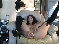 Dildo in the pussy of a cutie
