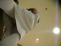 Here you can see hidden camera upskirt