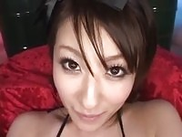 Watch Japanese Kiko cum on her vibrating dildo