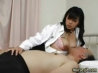 Jumbo tits asian nurse revives old mans cock