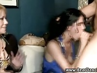 Nasty babes blowbanging
